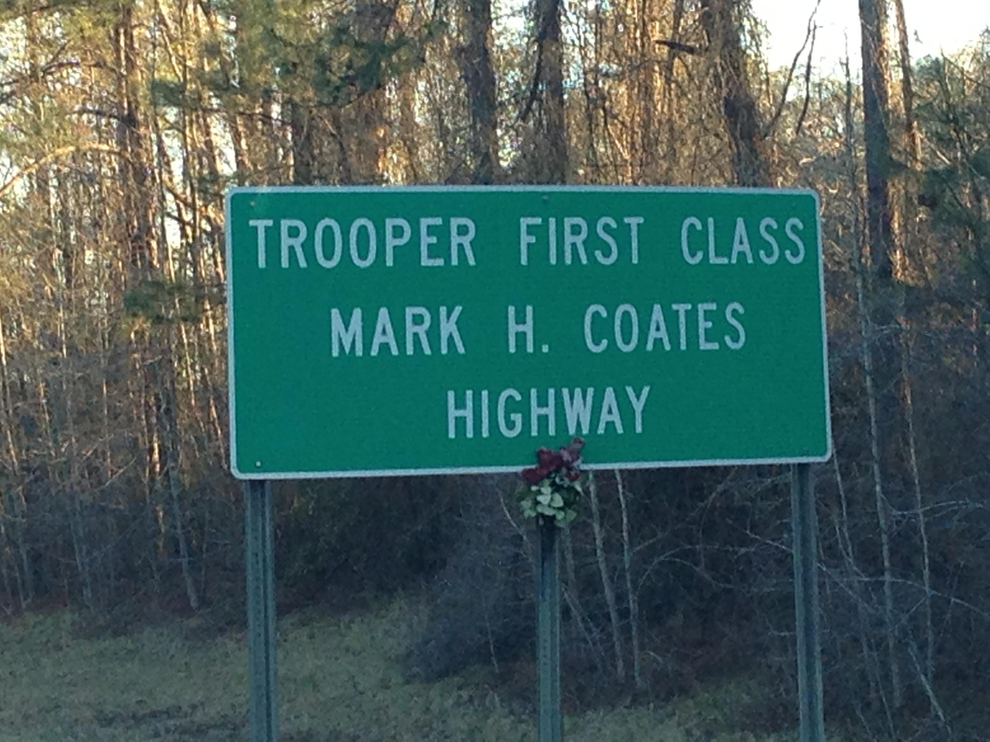 Trooper Mark Coates Marker